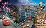 Fototapeta dla Dzieci - Auta Cars Disney Wyścig - 368x254