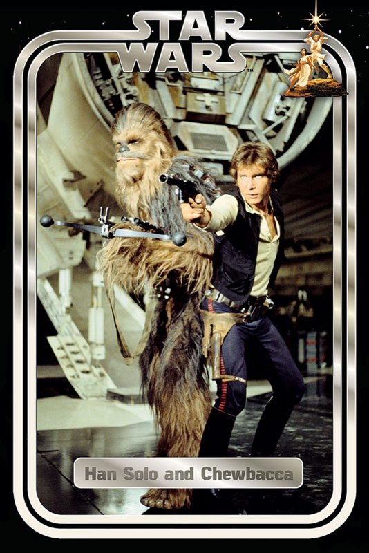 Star Wars Han And Chewie Retro Plakat Filmy Science Fiction