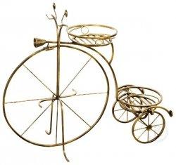 Kwietnik metalowy -  Stojak na kwiaty - Rower duży