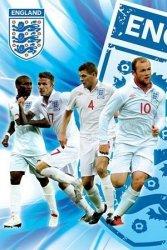 England F.A (Side 1/2 - Rooney, Gerrard, Beckham & Defoe) - plakat