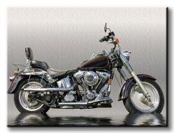 Obraz do sypialni - Czarny motocykl - 120x90 cm