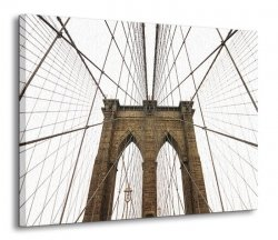 Obraz do salonu - Brooklyn Bridge II - 120x90 cm