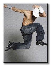 Obraz ścienny - Tancerz - Mężczyzna - 90x120 cm