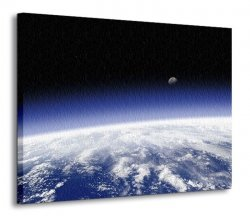 Obraz do salonu - Planeta Ziemia, horyzont - 120x90 cm