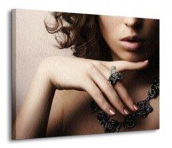 Obraz na wymiar - Modna kobieta - 120x90 cm