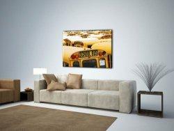 Obraz Motoryzacyjny - New York, School Bus - 120x90 cm
