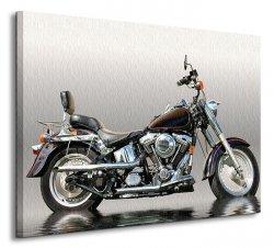 Obraz motoryzacyjny - Czarny motocykl - 80x60 cm