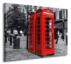 Czerwona budka, Londyn - Obraz na płótnie
