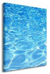 Błękitna woda - Obraz na płótnie