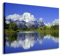 Górska refleksja - Obraz na płótnie