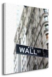 Wall Street, znak - Obraz na płótnie