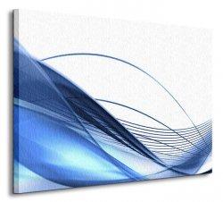 Modern background in blue - Obraz na płótnie