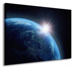 Ziemia i Słońce - Obraz na płótnie