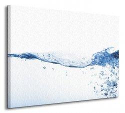 Bombelki w wodzie - Obraz na płótnie
