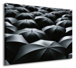 Czarne parasolki - Obraz na płótnie