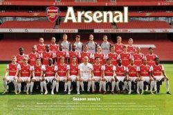 Arsenal Team Photo 10/11 - plakat
