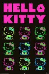 Hello Kitty - neon party - plakat