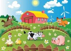 Fototapeta dla dzieci - Farma i zwierzaki - 254x183 cm