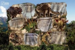 Natural History Museum (Dinosaur Facts) - plakat