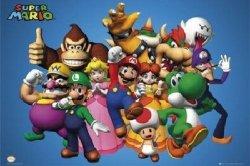 Nintendo Postacie - plakat