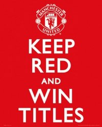 Manchester United Keep Red - plakat