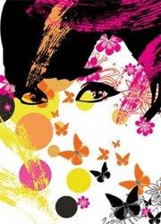 Fototapeta na ścianę - Floral Girl - 183x254cm