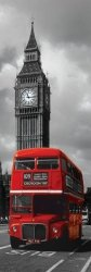 London Red Bus - plakat