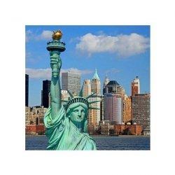 Statua wolności Manhattan Skyline - reprodukcja