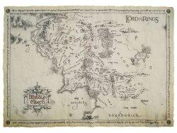 Władca Pierścieni - Mapa Śródziemia (Pergamin) - reprodukcja
