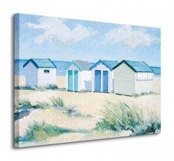 Beach  Huts On A Bright Day - Obraz na płótnie