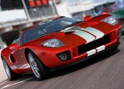 Czerwony sportowy samochód - fototapeta 320x230 cm
