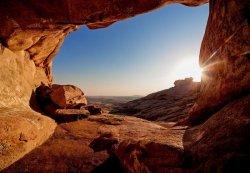 Fototapeta do sypialni - Grota na pustyni - 366x254 cm