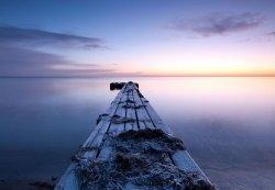 Fototapeta na ścianę - Pomost nad wodą - 366x254 cm