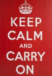 Obraz na drewnie - Keep Calm And Carry On