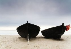 Fototapeta na ścianę - Łodzie na plaży - 366x254 cm