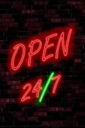 Open 24/7 - plakat