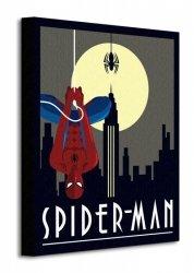 Marvel Deco (Spider-man Hanging) - Obraz na płótnie