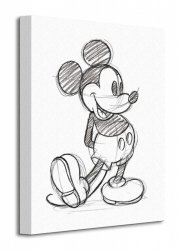 Mickey Mouse (Sketched - Single) - Obraz na płótnie