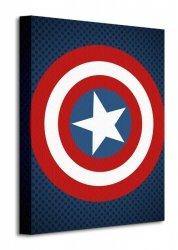 Avengers Assemble (Captain America Shield) - Obraz na płótnie