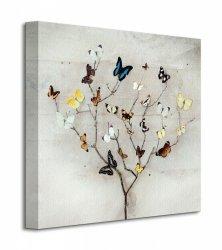 Obraz do salonu - Tree Of Butterflies