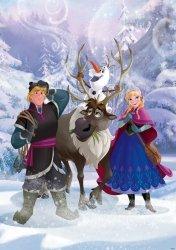Fototapeta dla dzieci - Kraina Lodu Frozen Kristoff i Anna - 254x184 cm