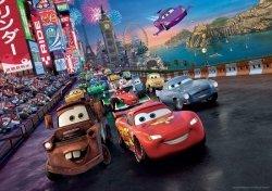 Fototapeta dla Dzieci - Auta Cars Disney Wyścig - 254x184cm