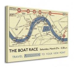 Transport For London (Boat Race Map) - Obraz na płótnie