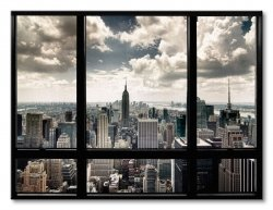 Obraz na płótnie - New York Window - 80x60 cm