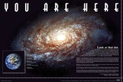 You Are Here Space - plakat