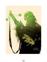 Star Wars The Force Awakens Chewbacca - reprodukcja