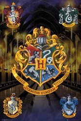 Harry Potter - Herby Domów - plakat