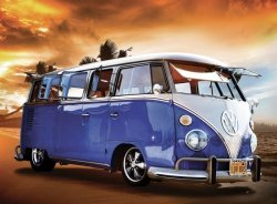 Fototapeta na ścianę - Volkswagen Camper Van Blue - 315x232 cm