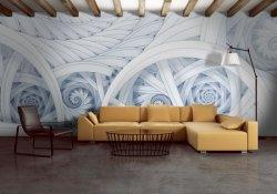 Fototapeta na ścianę - Symetryczne, kolorowe fractale