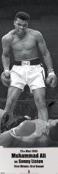 Plakat na ścianę - Muhammad Ali vs Sonny Liston - 53x158 cm